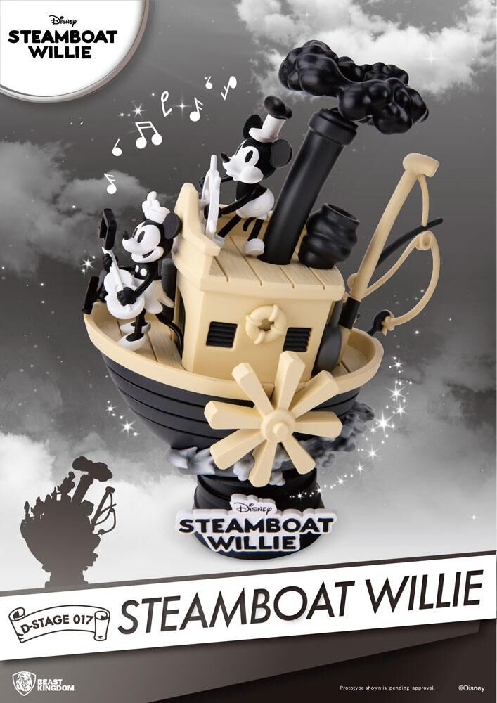 Steamboat Willie D-Stage - Mickey and Minnie Diorama