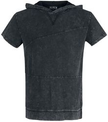 Black T-shirt with Wash and Hood