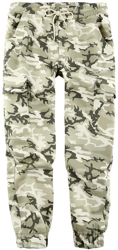 Two-Toned Fleece Cargo Trousers