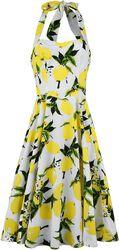 Lemon Print Swing Dress
