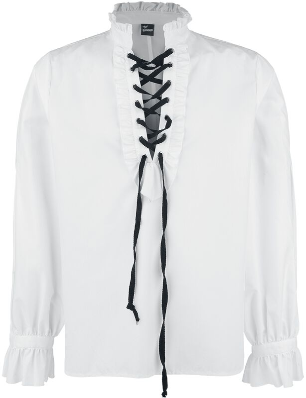 Frilled Shirt with Lacing