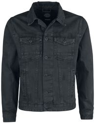 Dusty Black Slim Fit Denim Jacket