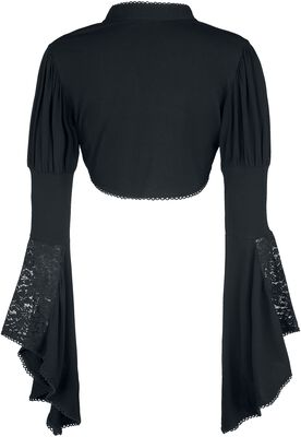 Gothicana Lace Bolero with Trumpet Sleeves