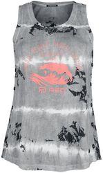RED X CHIEMSEE - weiß/schwarzes Batik Top