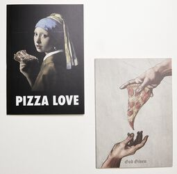 Pizza Art Exercise Book 2-Pack