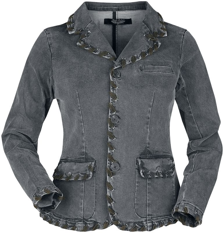 Rock Rebel Grey Denim Jacket