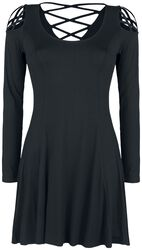 Black Dress with Decorative Lacing