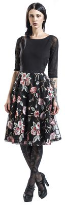 Premium Embroidered Vintage Swing Dress