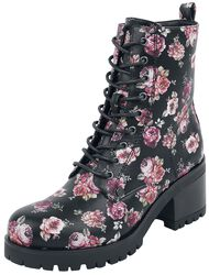 Boots with Rose Print