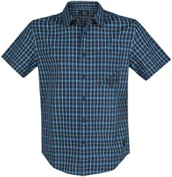 RED Checked Short-Sleeve Shirt