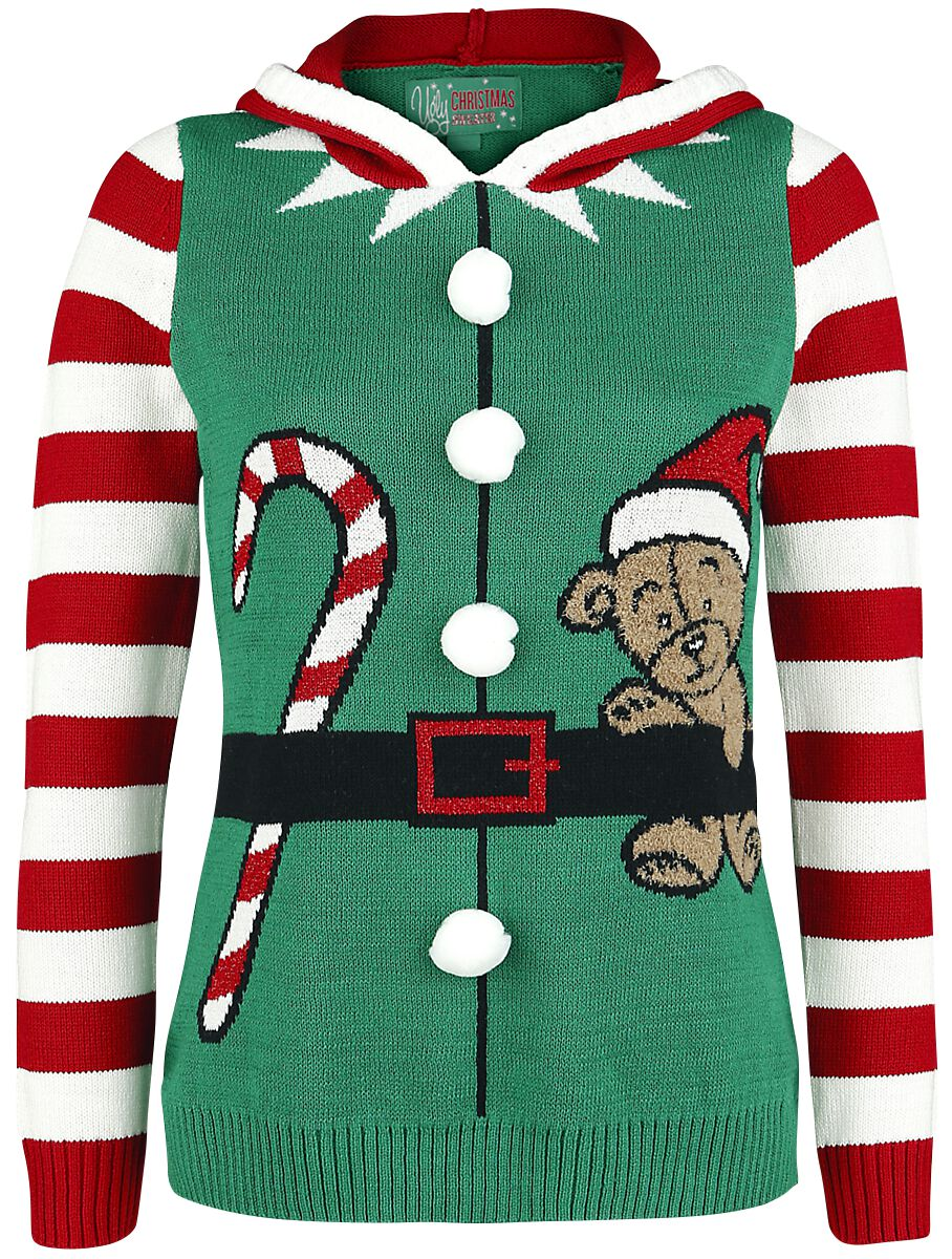 Christmas Elf Ugly Christmas Sweater Christmas Jumper Emp