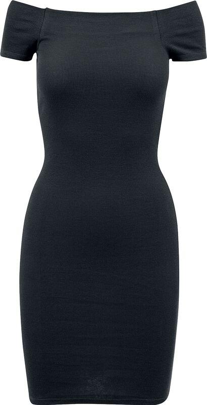 Ladies Off Shoulder Rib Dress