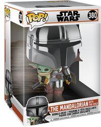The Mandalorian - The Mandalorian with the Child (Jumbo Pop!) Vinyl Figur 380