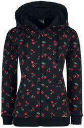 Cherries Hooded Zip-Jacket