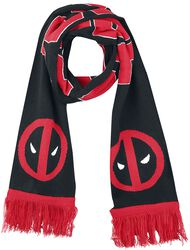Classic Logo and Big Face Knitted Scarf