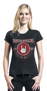 home schooling 2020 fitted t shirt