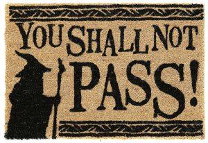 thou shalt not pass doormat