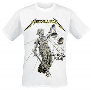 metallica justice tshirt